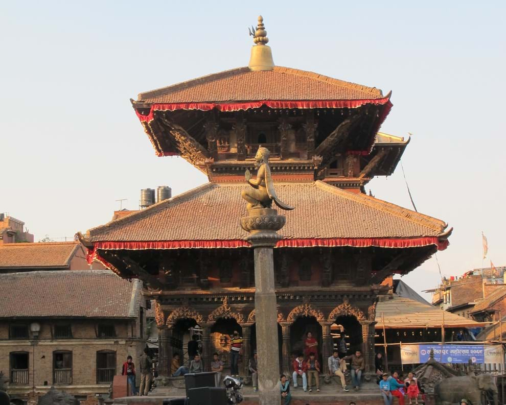Hindi byggnad Nepal Patan